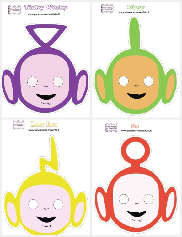 Teletubbies Masks -Free Printable | Lesson Plans | CraftGossip.com