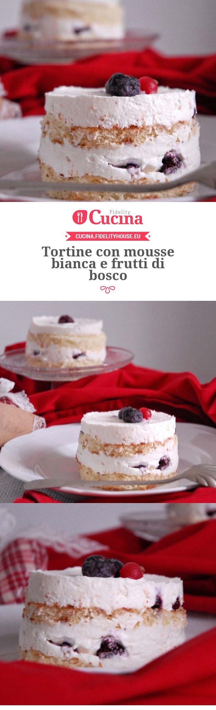 Tortine con mousse bianca e frutti di bosco della nostra utente Alice. Unisciti alla nostra Community ed invia le tue ricette!