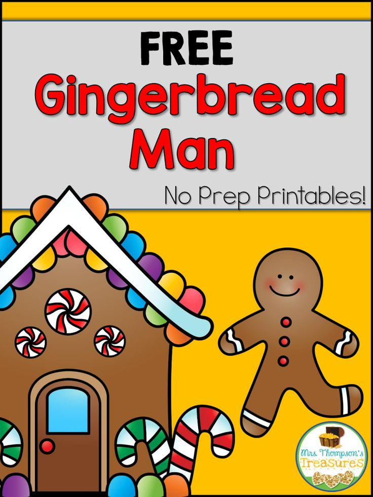 Gingerbread Man Freebie.pdf (With images) Gingerbread