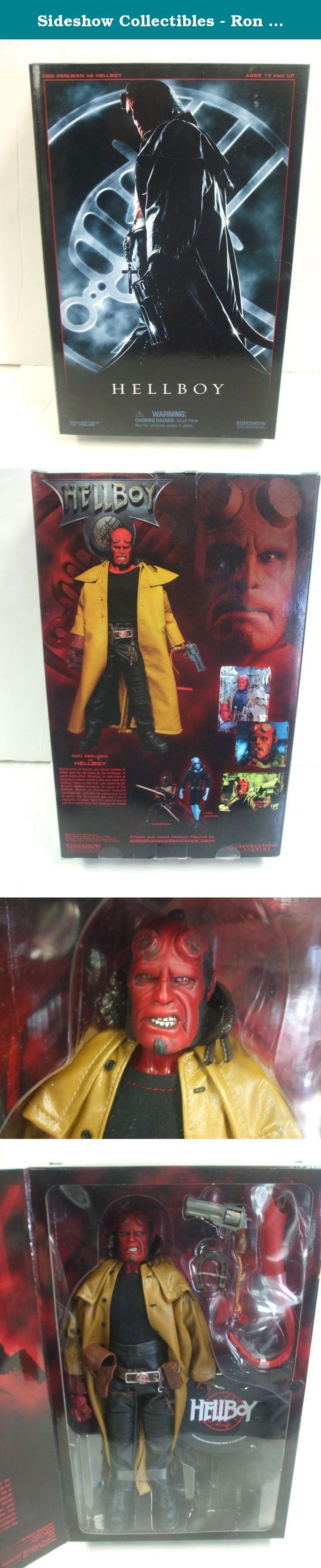 "Sideshow Collectibles - Ron Perlman as HELLBOY - 12"" Figure. Sideshow Colectibles - Ron Perlman as HELLBOY - 12"" Figure."