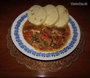 Bravčové mäso so zeleninou a smotanou (fotorecept) - Recept