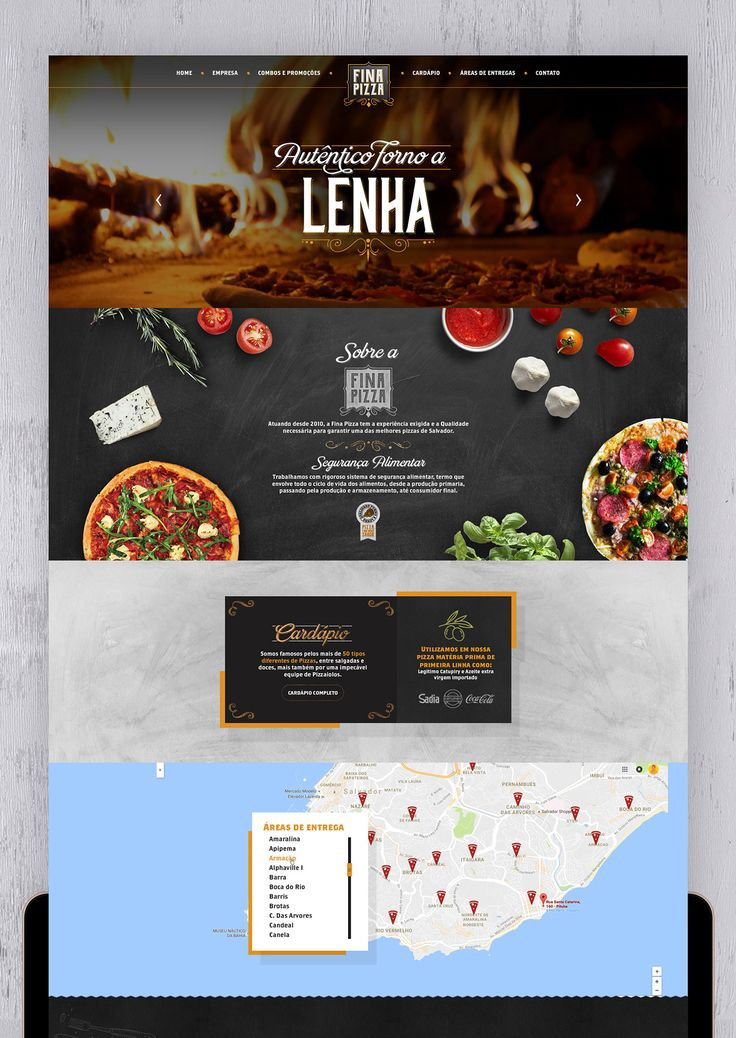 Fina Pizza - Logo, Site, Impressos e Redes Sociais on Behance
