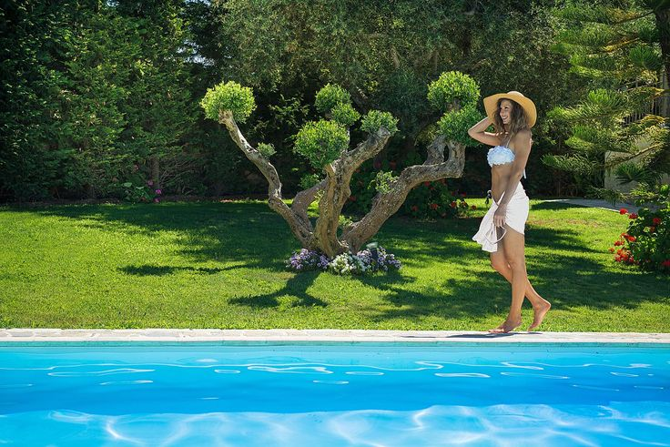 Walking around the pool