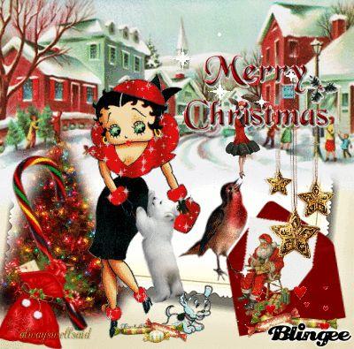 Betty boop christmas card betty boop pinterest navidad frases y pensamientos - Betty boop noel ...