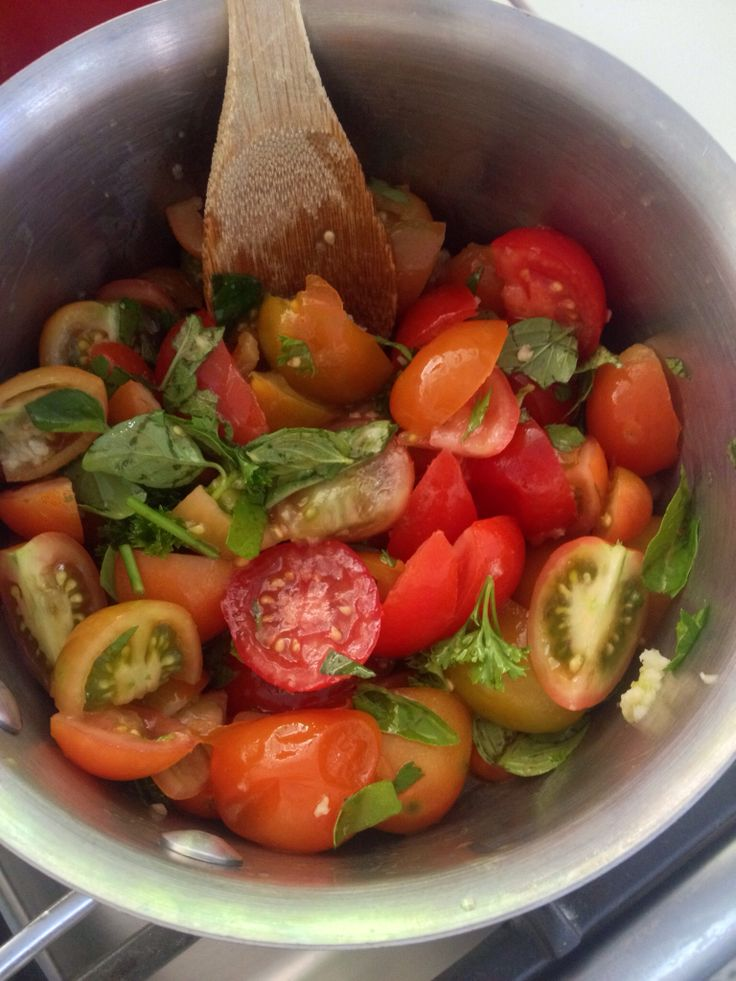 Hand picked. Home kitchen garden. Tastiest tommies. Sweet and delicious . Add basil and voila. Salade !