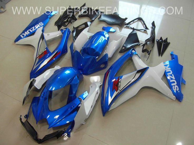 2008-2010 GSXR-600 750 Metallic Blue Suzuki Fairings