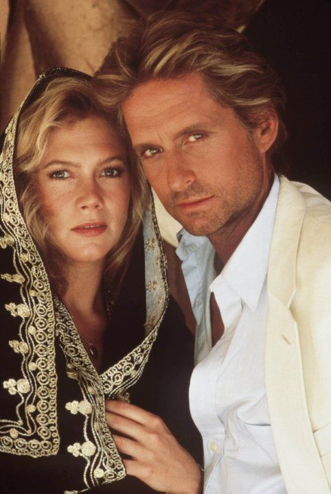 """Michael Douglas and Kathleen Turner in """"The Jewel of the Nile"""" (1985)"""