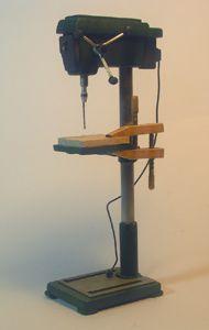Miniature Modern Wood Shop Tools - Miniature Drill Press 1:12 scale