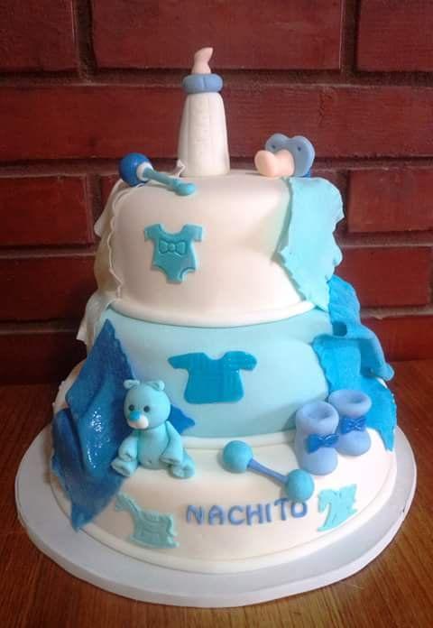 #BabyShower #ItsABoy #fondant #cake by Volován Productos  #instacake #puq #Chile #VolovanProductos #Cakes #Cakestagram #SweetCake