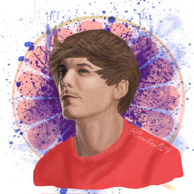 Digital Drawing of Louis Tomlinson.