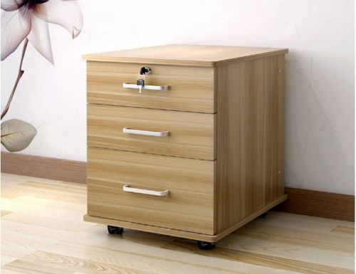Filing-Cabinet-Rolling-Lockable-3-Drawers-Storage-Home-Office-Student-Study