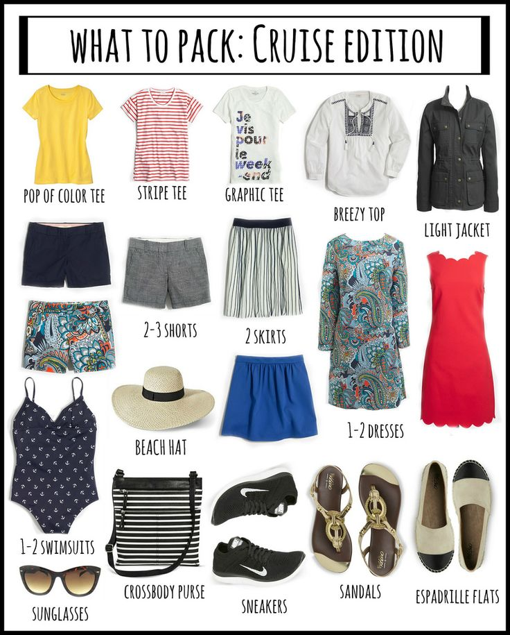 WHAT TO PACK: CRUISE EDITION
