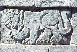 Toltec - Carved relief of a Jaguar at Tula, Hidalgo Wikipedia, the free encyclopedia