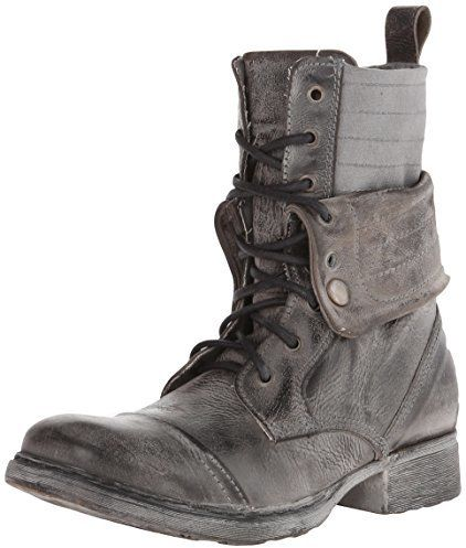 Bed Stu Men's James Combat Boot, This rugged lace boot has