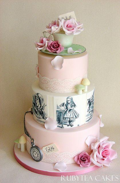 Alice In Wonderland Wedding Cakes | Alice in Wonderland Wedding Cake | Flickr - Photo Sharing!