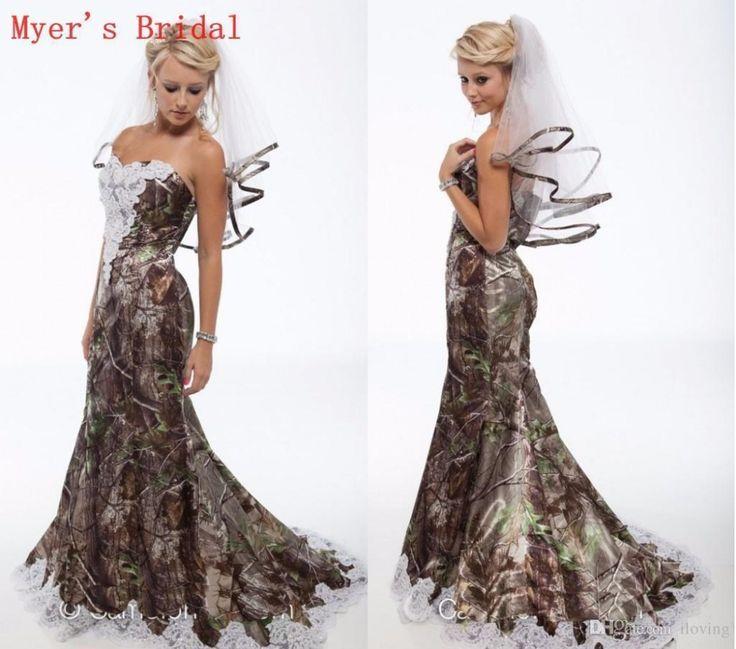 >> Click to Buy << Mermaid Camo Country Wedding Dresses  Lace Appliques Sweetheart  Camouflage Bridal Dresses Vestidos De Novia Gown M1039 #Affiliate