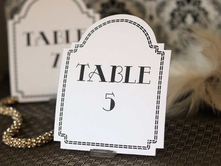 Table Numbers for Wedding x 10 | 1920s Gatsby Wedding Table Numbers | Art Deco  wedding | Gatsby Party Decorations | Black & White Wedding by PaperColada on Etsy