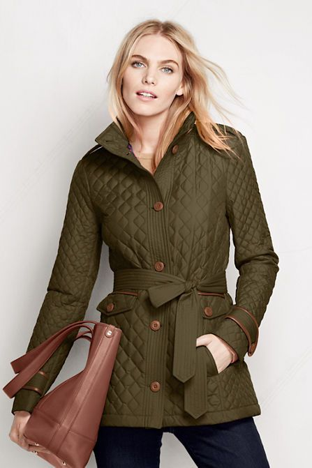 Women's Quilted PrimaLoft Parka from Lands' End Love this fall/winter jacket!  on sale for $70