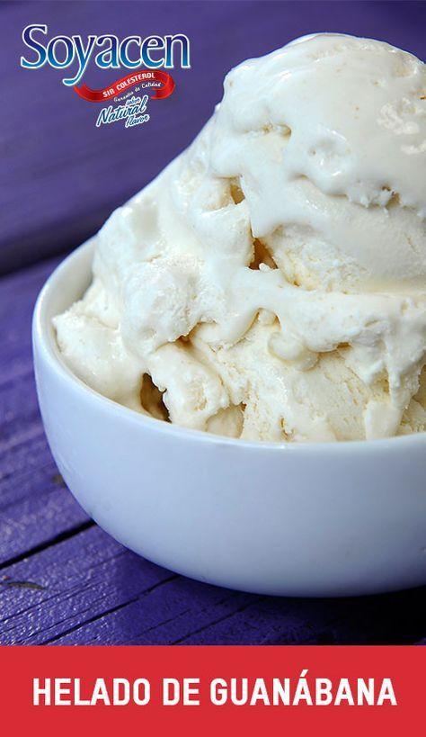 Receta de helado de guanábana / Sicilian ice cream recipe.