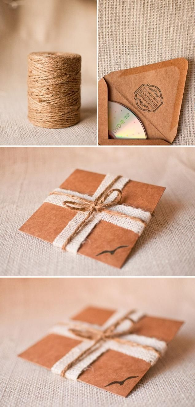 Как упаковать открытку в подарочную бумагу