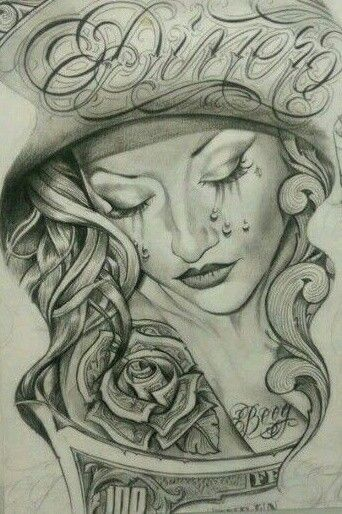 Crying chicano arte pinterest crying chicano and for Chicano tattoo art