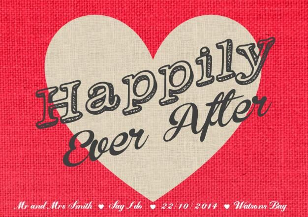 Happily every after print