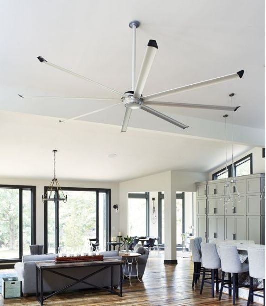 Essence Ceiling Fan Installed In The Salhab Residence Living Room