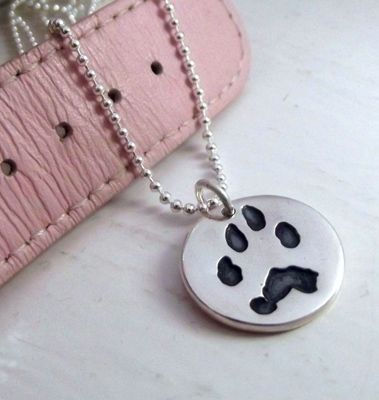 Your pets very own paw print on a lovely necklace from lovelilyrose.co.uk! Check out some more pet gift ideas here:  http://bit.ly/1U6Qhmn