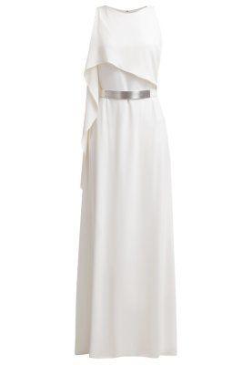 Długa sukienka - bone
