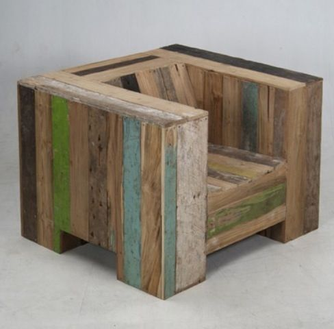 Pallet chair. Idea only; no tutorial.