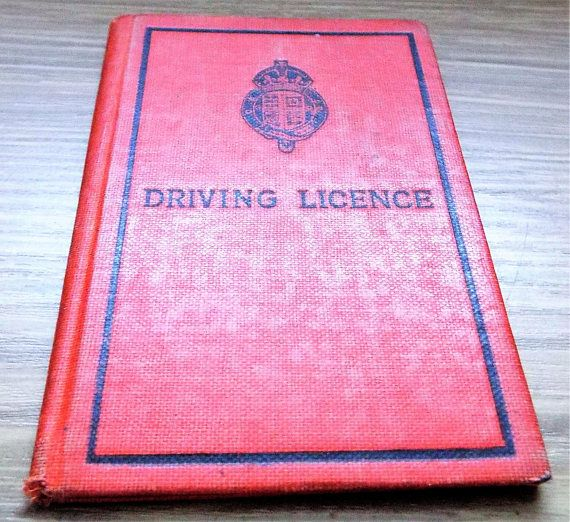 1934 London County Council Drivers Licence  Vintage Driving
