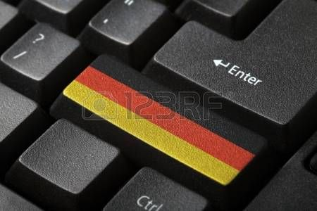 El botón de la bandera alemana en el teclado de cerca photo