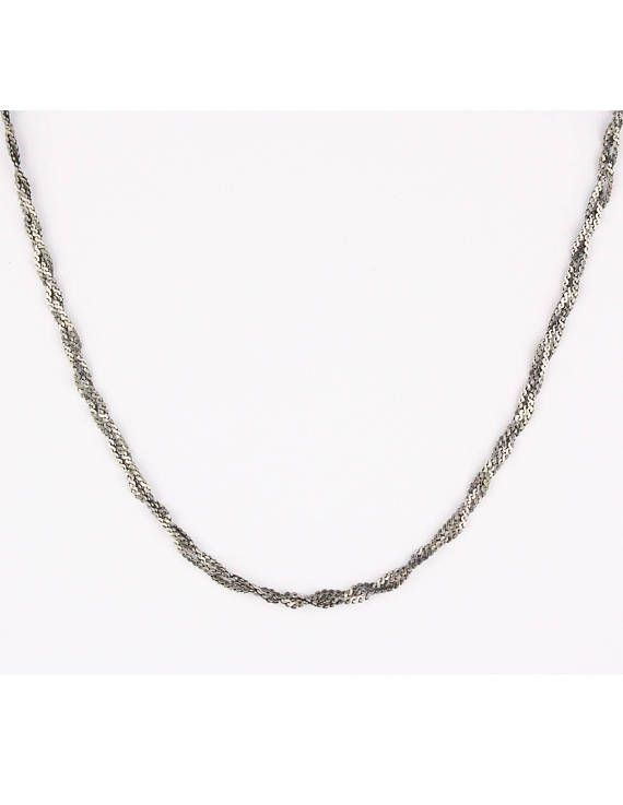 70's Braided Sterling Silver Necklace in my Etsy shop https://www.etsy.com/ca/listing/113907314/vintage-italian-925-sterling-silver    #etsy #vintagejewelry