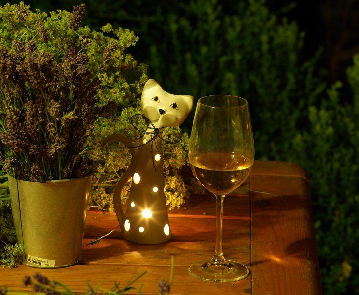 Večerní atmosféra s keramickou kočkou na svíčku  http://www.keramika-andreas.cz/products/keramicka-kocka-na-svicku-sviceb/