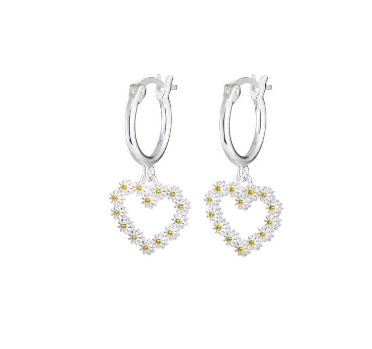 11mm Iota heart drop earrings - E6004 - Daisy London - Ladies Jewellery #iota #penman #daisy