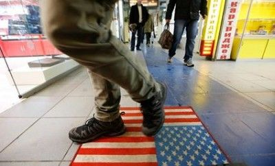USA on Foot Mat