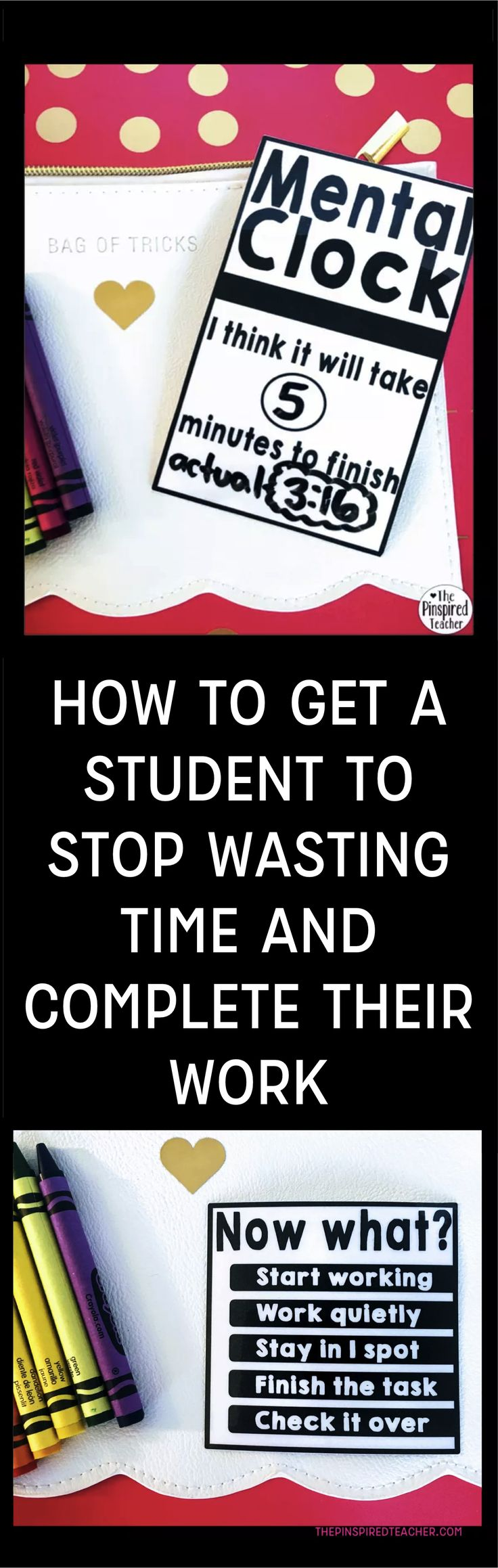 How to Get a Student to Stop Wasting Time And Complete Their Work   By The Pinspired Teacher   Classroom Management   PBIS   Positive Behavior Interventions