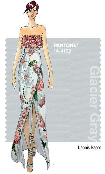 Dennis Basso in Pantone Glacier Gray - SPRING 2015 PANTONE's #FashionColorReport. V