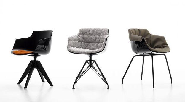 krzesła nowoczesne   flow slim padded xl    mesmetric concept store