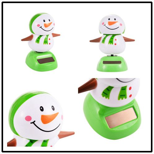 Solar Powered Shaking Toy Christmas Toys Penguins Snowmen Deer People Santa Clausfor Children Christmas Decoration Best Gift