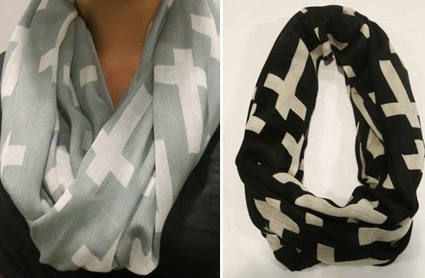 GroopDealz | All Over Cross Infinity Scarf!