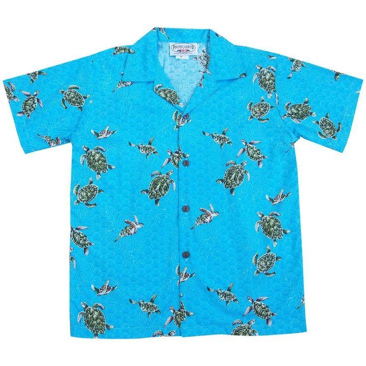 turtle swim teal boy hawaiian shirt - Alohaz