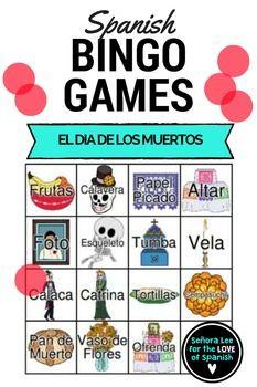 Spanish Day of the Dead Bingo by Senora Lee - for the LOVE of Spanish | Teachers Pay Teachers