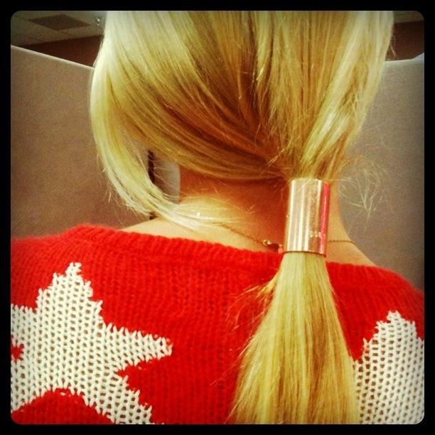 Best 髮飾Hair Cuff髮釦 Images On Pinterest Bangle - Ponytail cuff diy