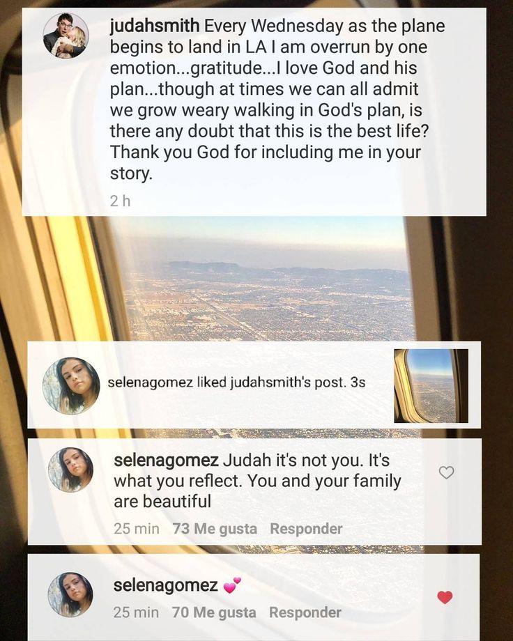"""@selenagomez """"Liked"""" and commented @judahsmith post """"Judah it's not you. It's what you reflect. You and your family are beautiful""""  #SelenaGomez dio """"Me Gusta"""" y comentó en la publicación de @judahsmith """"Judah no eres tú. Es lo que reflejas. Tu y tu familia son hermosos""""  #Selena #Selenator #Selenators #Fans"""