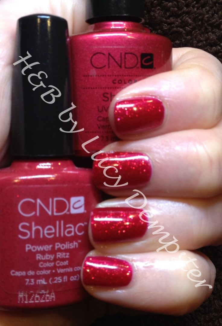 Starting to feel the party spirit with CND shellac ruby ritz over red baroness! Party sparkle!