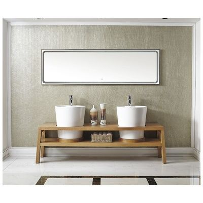 "Best Deal - Vinnova Lecce 78"" Bathroom Vanity In Red Oak with 2 Deep Pedestal Basins 747078-RO"