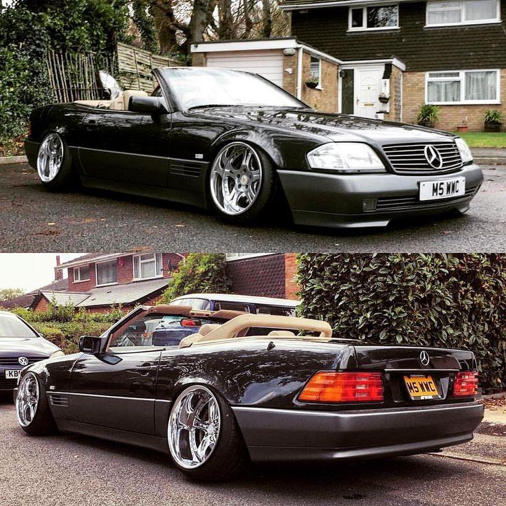 Drop the top Sundays. 🌧🌨 Mercedes-Benz on ⬆️Weds Kranze Cerebrus⬇️Work VS-KF #mercedes #r129 #sl500 #amg #bigbody #weds #wedskranze #workwheels #workvskf #cabby #cabriolet 🚗@johnnyvicemercy