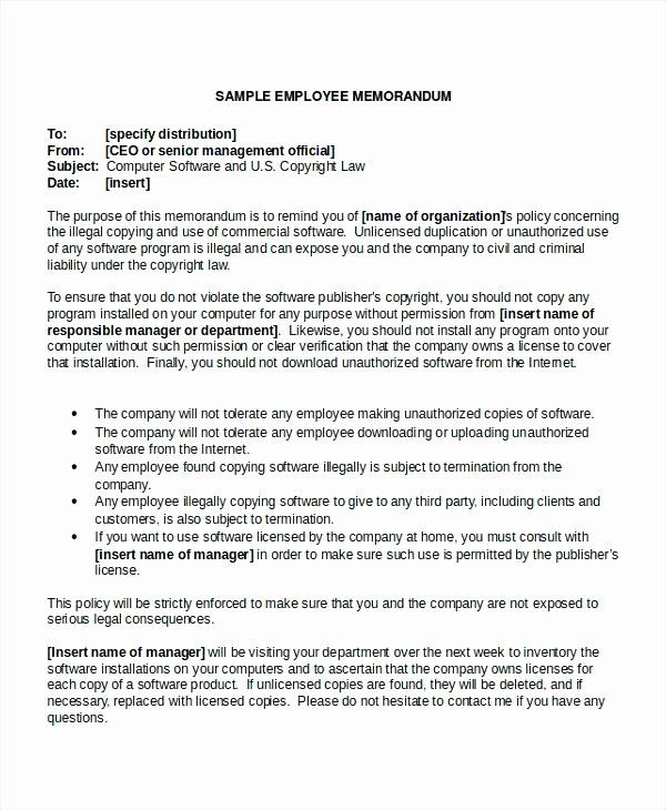 Employee Expectations Template Elegant Employee Expectations Template Drsclinic Memo Template Executive Summary Template Templates