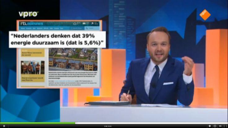 Lubach op Zondag, over Energierapport Henk Kamp: Nederlands denken dat 39% van onze energie duurzaam is, terwijl dat maar 5,6% is.